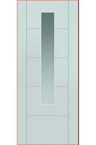 External Extreme Composite Core Tigris GLAZED Door Prefinished (Door + weather bar Only)