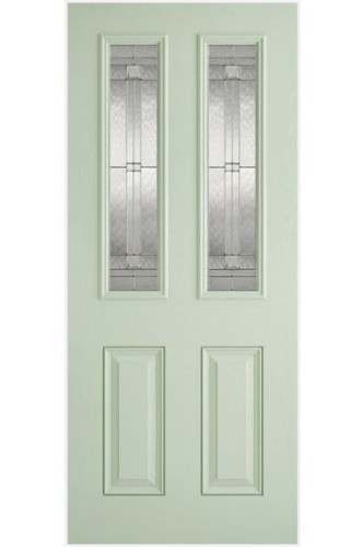 External Door Composite GRP Malton  Lead Double Glazed Prefinished - Suitable for trimming 60mm (Door Only) - Colour Options