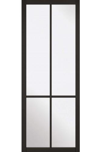 Internal Door Premium Primed Plus Black Liberty with Clear Glass