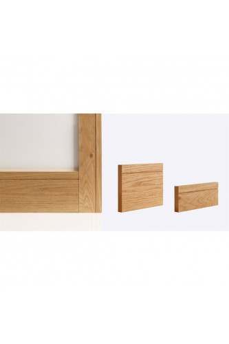 Internal Oak Skirting Pack Shaker Style Prefinished (4 x 3.6M per pack)