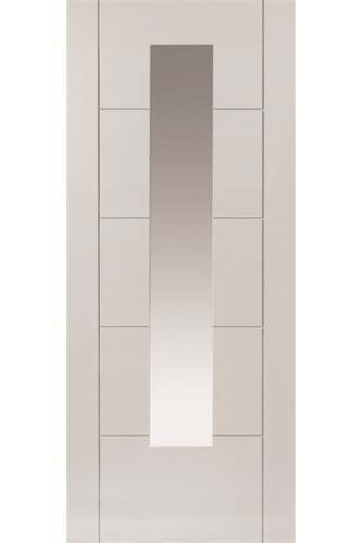 Internal Door White Emral STANDARD CORE with Clear Glass Prefinished