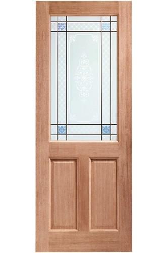 XL External Door Hardwood 2XG Caroll Glass Dowelled