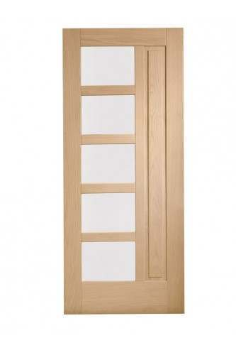 External Door Oak Lucca with Obscure Glass Untreated