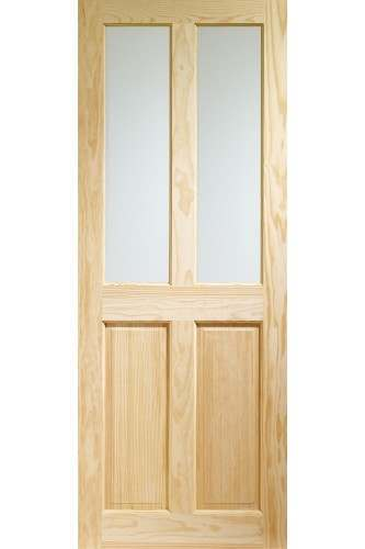 Internal Door Clear Pine Victorian with clear glass