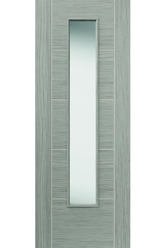Internal Door Semi Solid Core Lava with Clear Glass Prefinished - Standard Core