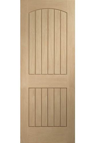 Internal Door Oak Sussex Unfinished front