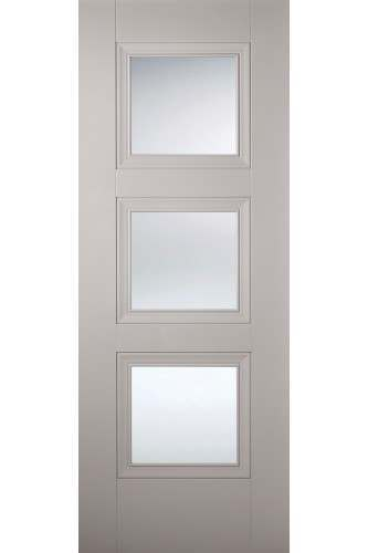 Internal Door Grey Amsterdam 3 Light Primed NEW PRODUCT