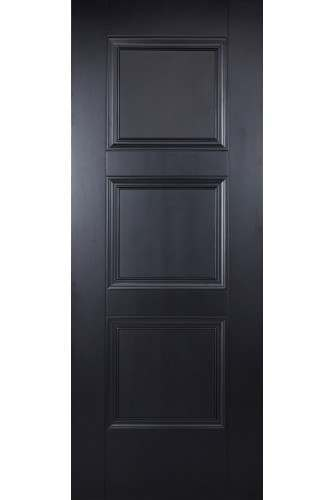 Internal Door Black Amsterdam 3 Panel Primed Plus