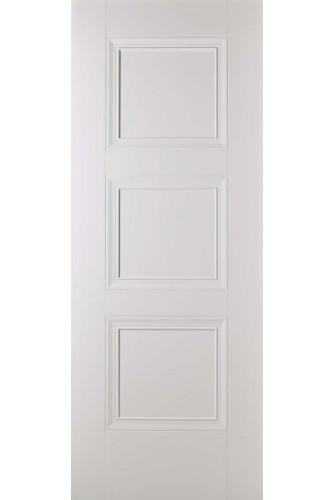 Internal Fire Door White Primed Amsterdam 3 Panel