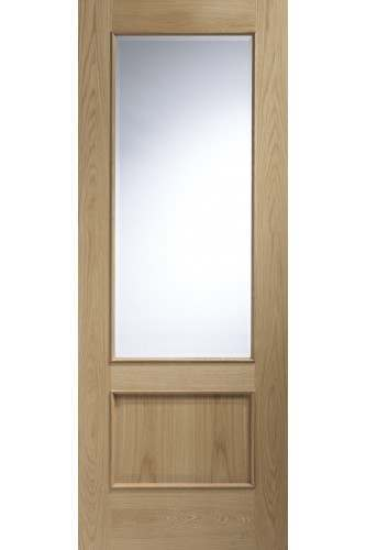 Internal Door Oak Andria with Clear Bevelled Glass and RM