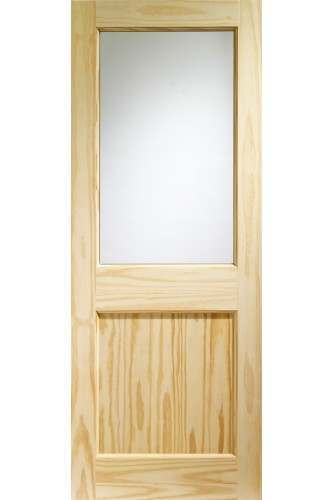 XL External Doors Pine 2XG with Clear Glass Untreated