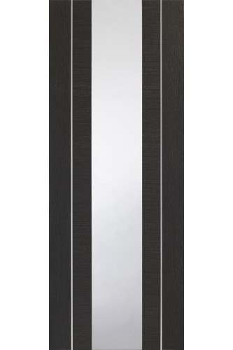 Internal Dark Grey Forli with Clear Glass and aluminium inlay Prefinished