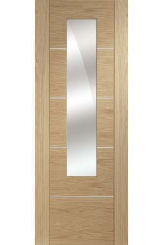 Internal Door Oak Portici with Mirrored Glass Prefinished