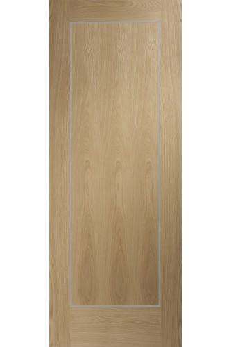 Internal Door Oak Varese Pre Finished with real aluminium inlays