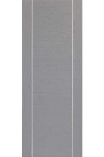 Internal Fire Door Light Grey Forli with aluminium inlay Prefinished
