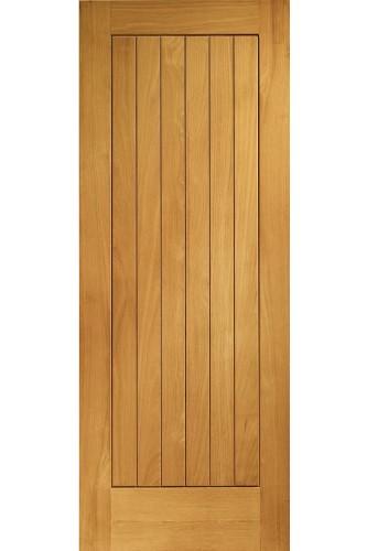 External Door Oak Suffolk Pre-Finished Medium Oak