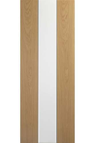 Internal Door Oak and White Pescara Prefinished DISCONTINUED Check stock levels