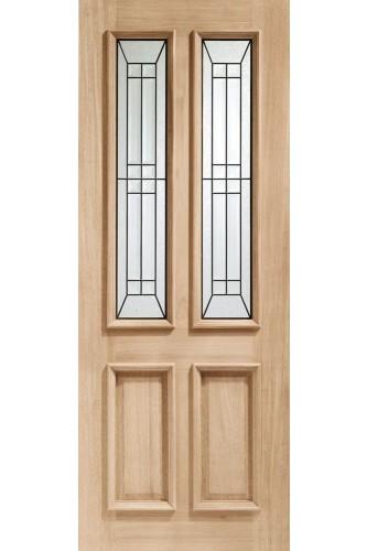 External Door Oak Malton Diamond with Black Caming Untreated