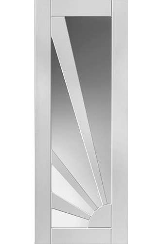Internal Door White Primed Aurora Glazed Clear Glass