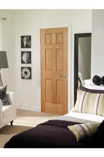 Internal Door Oak Colonial with non raised mouldings in situ
