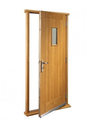 "External Oak Chancery Timber Doorset Prefinished medium light oak (33"")  - Out of stock until further notice"