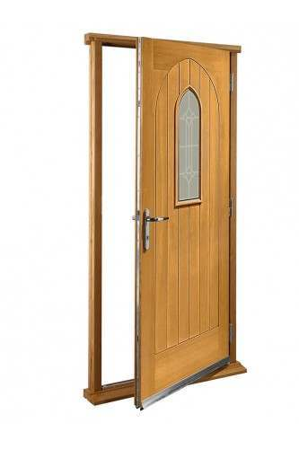 "External Oak Westminster Timber Doorset Prefinished medium light oak (33"") -  Out Of Stock Until Further Notice"
