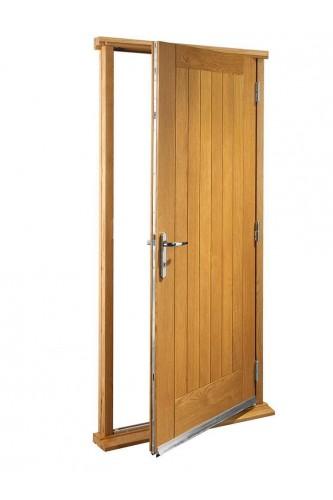 """External Oak Suffolk Timber Doorset Prefinished medium light oak (30"""")  -  still stock left"""