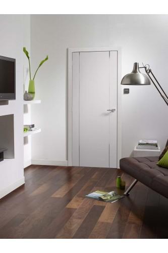 Fire Door White Prefinished Forli in situ