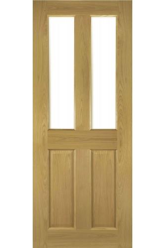 Internal Door Oak Bury Glazed Prefinished