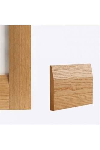 Internal Oak Skirting Pack Half Splayed Style Prefinished (4 x 3.6m lengths per pack)