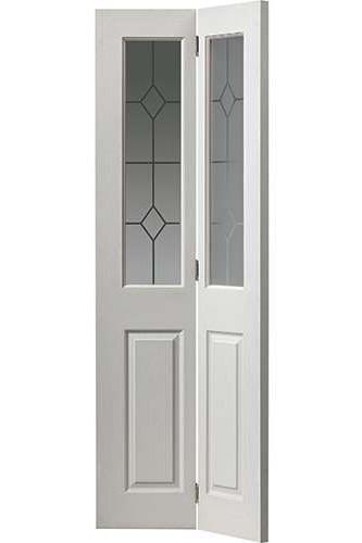nternal Bi Fold Door White Moulded Canterbury Glazed