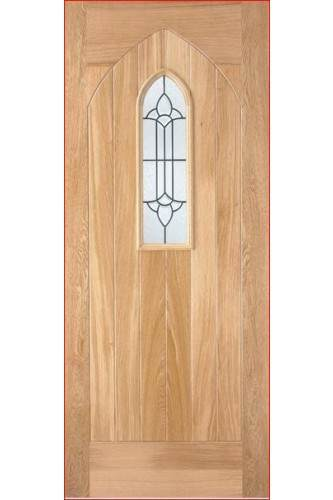 External Door Oak Westminster with Lead Double Glazed Untreated LPD