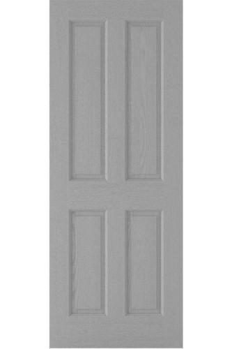 INTERNAL DOOR GREY MOULDED TEXTURED 4P HOLLOW CORE