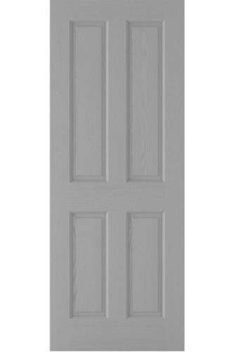 INTERNAL FIRE DOOR GREY MOULDED TEXTURED 4P SOLID CORE