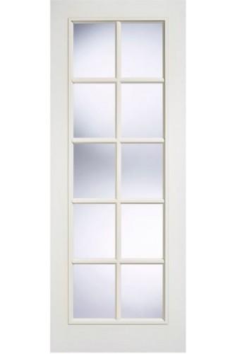 Internal Door White Primed Moulded SA 10 Light Glazed LPD