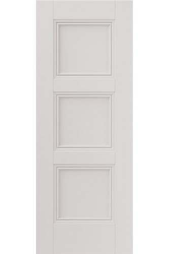 Internal Door White Primed Catton 3 Panel with decorative flush mouldings (RAL colour finish available)