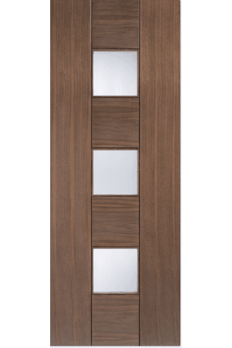 Internal Door Walnut Catalonia Glazed Pre Finished Promo while stocks last