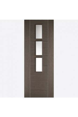 Internal Door Chocolate Grey Alcaraz Glazed Prefinished