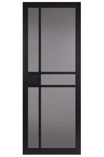 Internal Door Urban Industrial City Black With Tinted Glass