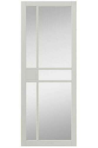 Internal Door Urban Industrial City White with Clear Glass