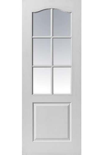 Internal Door White Moulded Classique 6 Light