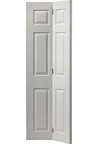 Internal Bi Fold Door White Moulded Colonist