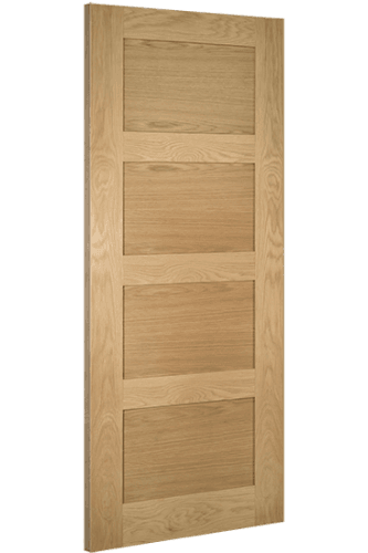 Internal Fire Door Oak Coventry 4 Panel Unfinished SPECIAL OFFER