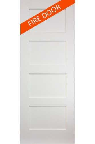 Internal FIRE DOOR Solid White Primed Coventry