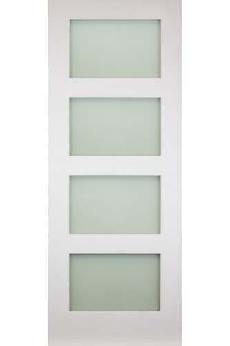 Internal Door Solid White Primed Coventry with Frosted Glass