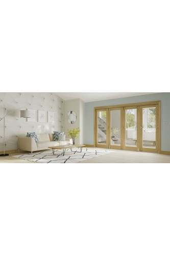 Internal FOLD Oak Untreated Folding Door System in Various Finishes to suit Deanta Doors (Frame Only)