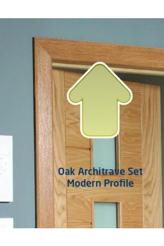 XL Internal Oak Veneered Architrave Set Modern Profile