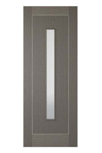 Internal Door Chocolate Grey 1 Light with Light Grey Inlay Prefinished DISCONTINUED