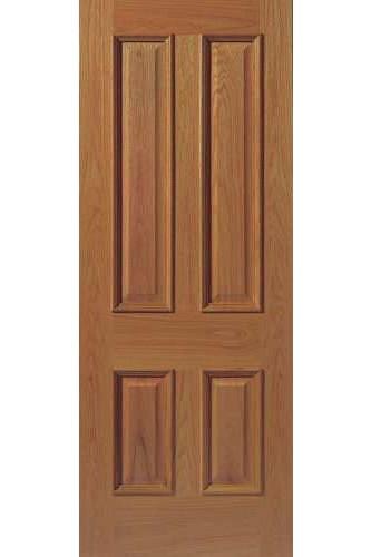 Internal Fire Door Oak E14 MN with Raised Mouldings Un finished