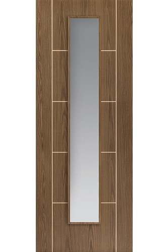 Internal Door Eco Mocha Glazed Soft Walnut Vertical Grain Prefinished - Standard Core